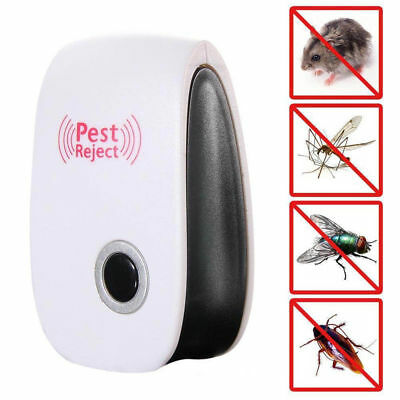 Electronic Ultrasonic Anti Mosquito Insect Pest Repellent Repeller EU/US Plug