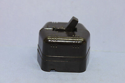 Vintage Monowatt Brown Bakelite 6-sided Toggle Light Switch - 10A @125V - TESTED