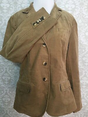 GAP MATERNITY Beige Corduroy Blazer Coat Size Medium GUC