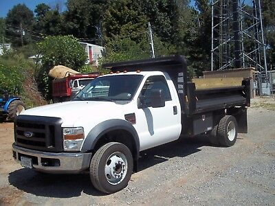 2008 ford f 550 dump truck with fold down side 6.4 L power stroke automatic