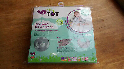 Tidy tot all in one bib and tray set. New and sealed