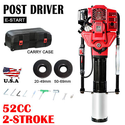 52CC 2 Stroke Gasoline Gas Pile Driver Petrol T-Post Driver Farm Rammer Fence