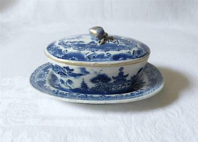 Mid 18Th C Chinese Nanking Blue And White Porcelain Lidded Tureen With Drainer