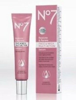 No7 Restore And Renew Face & Neck Multi Action Serum 50ml (BIGGER SIZE)
