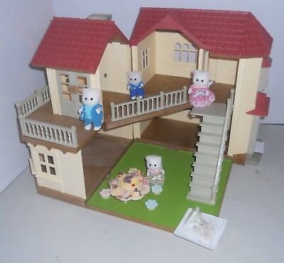 Sylvanian Families Beechwood Hall,  Plus Persian Cats & Nursery Party.  No Boxes
