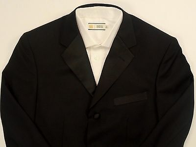Fellini Mens Black Formal Dinner Jacket. 3 Button Style. 38-S. New W/o Tags.