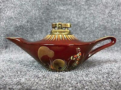 1940's Carlton Ware Rouge Royale Red & Gold Handpainted Genie Lamp Table Lighter