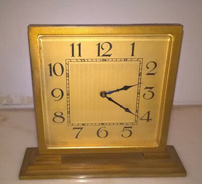 Antique Art Deco Gilded Mantle Clock As Found.