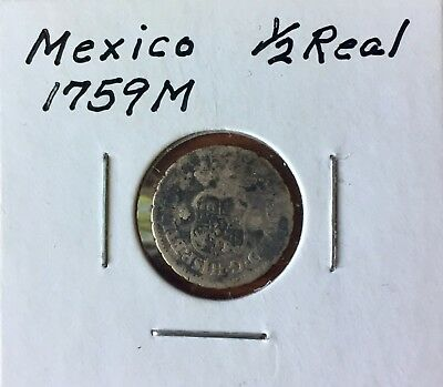 Mexico 1/2 Real, 1759
