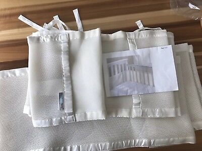 BreathableBaby Cream Breathable Mesh Baby Nursery Crib Liner