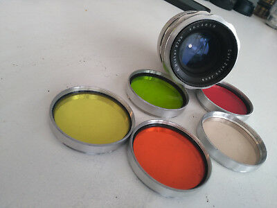 Carl Zeiss Jenna Biotar 2/58 (10 blade appature) With 5 filters