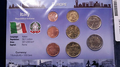 UNCIRCULATED Italy Coin Set and Certificate