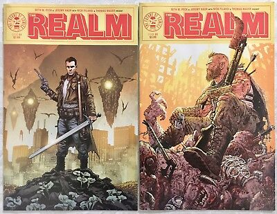 The Realm #1 Cover A & B Moore Variant, Both NM+, Image Comics, Sold Out, Hot