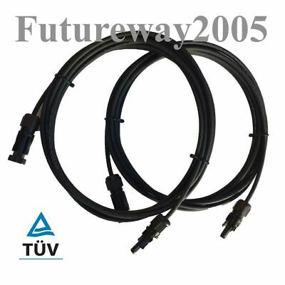 Pair of 5m extension cable leads 4.0mm for solar panels with MC4 connectors New