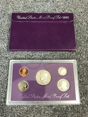 1992-S United States US Mint Uncirculated 5 Coin Proof Set In Original Box