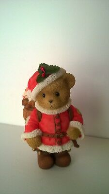 Cherished Teddies `RAYMOND  Santa's sending holiday wishes w/box and papers