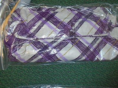 NEW Thirty One Retro Metro Fold Over Bag ~ Plum Plaid NIP Foldover