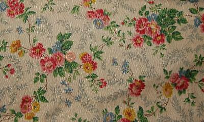 "Vintage Curtain Fabric 18""x 48"" Tootal Broadhurst Lee Co.Sewing Craft c1930s"