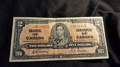 Canada Two dollars 1937 paper money