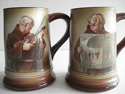 Morris & Willmore Monk Friar apple cider mugs set of 2
