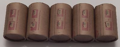 5x $20 SILVER DOLLAR ROLL - MORGAN PEACE DOLLAR MIXED DATES COVERED END COINS