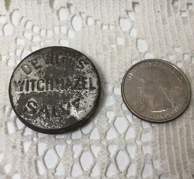 Vintage Small DeWitt's Witch Hazel Salve Advertising Tin-The Great Pile Cure