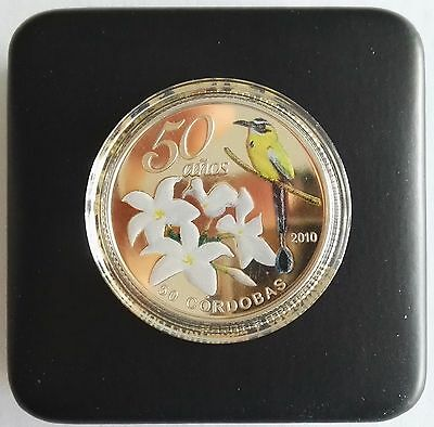 NICARAGUA: COINS 50 CORDOBAS 2010  Commemorative Currency to the 50th Anniversar