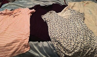 Lot of Maternity clothes- 4 large tops/NWT