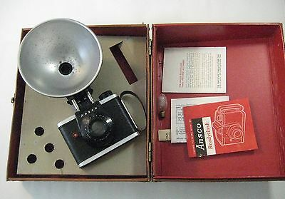 Vintage Ansco Readyflash 620 Film Camera With Flash and Original Carry Case