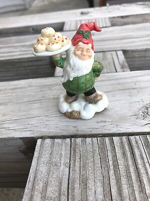 Fitz & Floyd Holiday Hamlet Pastry Vendor From The Enchanted Forest Collection F