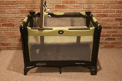 Graco Pack 'n Play On-The-Go Baby Travel Folding Playard - Green   1812957