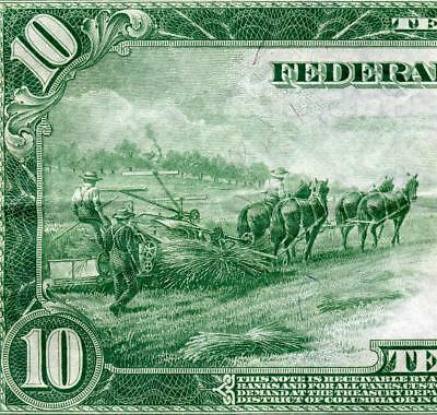 HGR 1914 $10 FRN ((Tougher Burke/McAdoo)) AWESOME GRADE