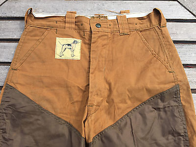 "Vintage 1950's NOS Duck Cloth Hunting PANTS  Large DOG Label 32"" waist"
