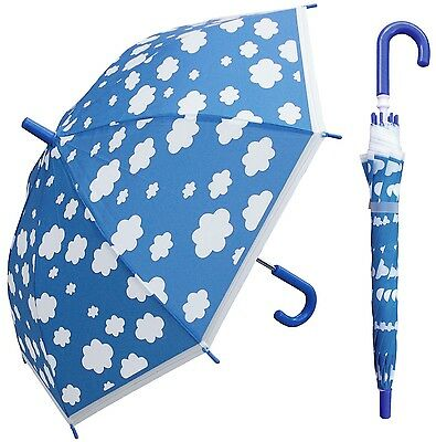 "32"" Kid Children Cloud Plastic Umbrella - RainStoppers Rain Cute"