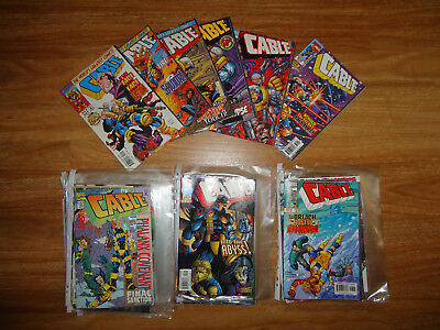 Cable comics vol. 1, approx 25 issues