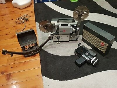 Vintage 8mm Hanimex E200 dual editor + Eumic mark 8 projector +zeiss ikon camera
