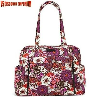 Vera Bradley Diaper Bag Baby Quilted Large Rosewood Stroll Around Zipper Closure