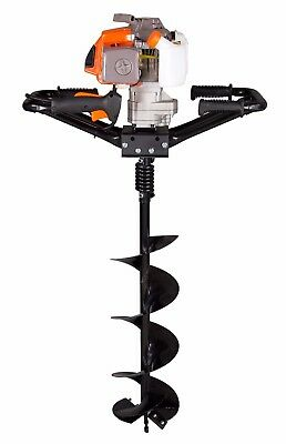 "Brand New 3HP KASEI 63cc Earth Auger Single Man Gas EPA with  6"" bits"
