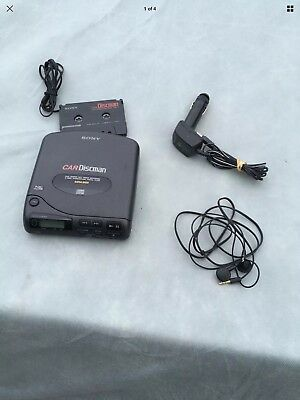 Sony  Discman  + Accessories Unit Made In Japan Car Kit Vintage