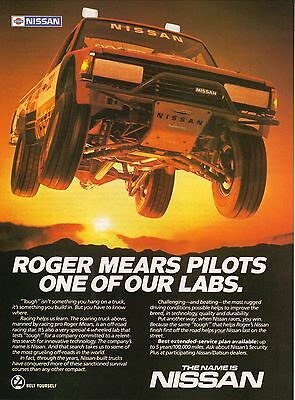 1985 Nissan Truck Off-Road Advertisement