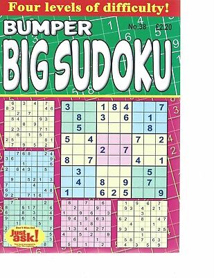 Sudoku Bumper Books 38 Large Print Puzzles In Each 4 Levels Of Difficulty