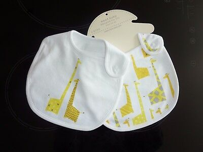 NEXT Set of 2 Giraffe Bibs NWT