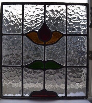 Leaded light stained glass windowow panel. B617. WORLDWIDE DELIVERY!