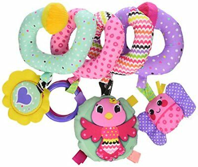 Infantino Spiral Activity Toy Pink Car Seat & Stroller Toys, New