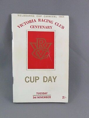 1964 VRC MELBOURNE CUP Race Book - Horse Racing Programme