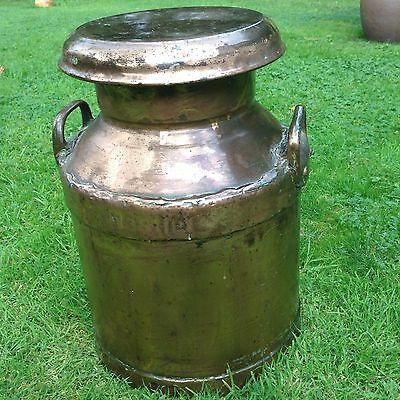 antique copper nestle milk churn Large