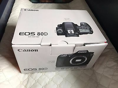 Brand New Canon Eos 80D Dslr Camera Body Only