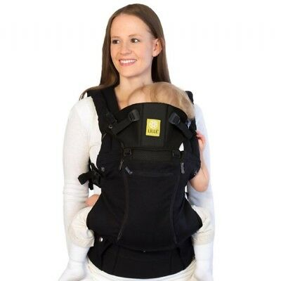 Black All Seasons 6 in 1 Ergonomic Lillebaby Baby Carrier -