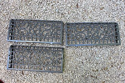 Set Cast Iron Baseboard Grate Register Old Home Restore Floor Lot Art Deco