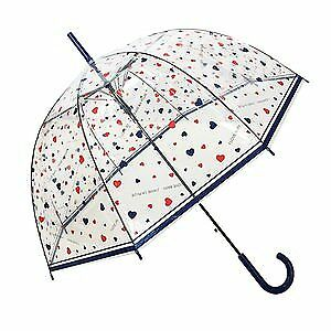 Umbrella - Automatic Clear Dome See Through Transparent Birdcage Hearts Stick